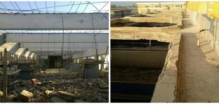 بالصور.. شوائب في أحواض محطة مياه بدمياط.. وتآكل مبانيها