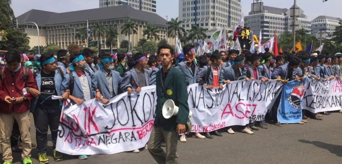 بالصور.. مظاهرات في إندونيسيا تطالب بتنحي الرئيس 📷