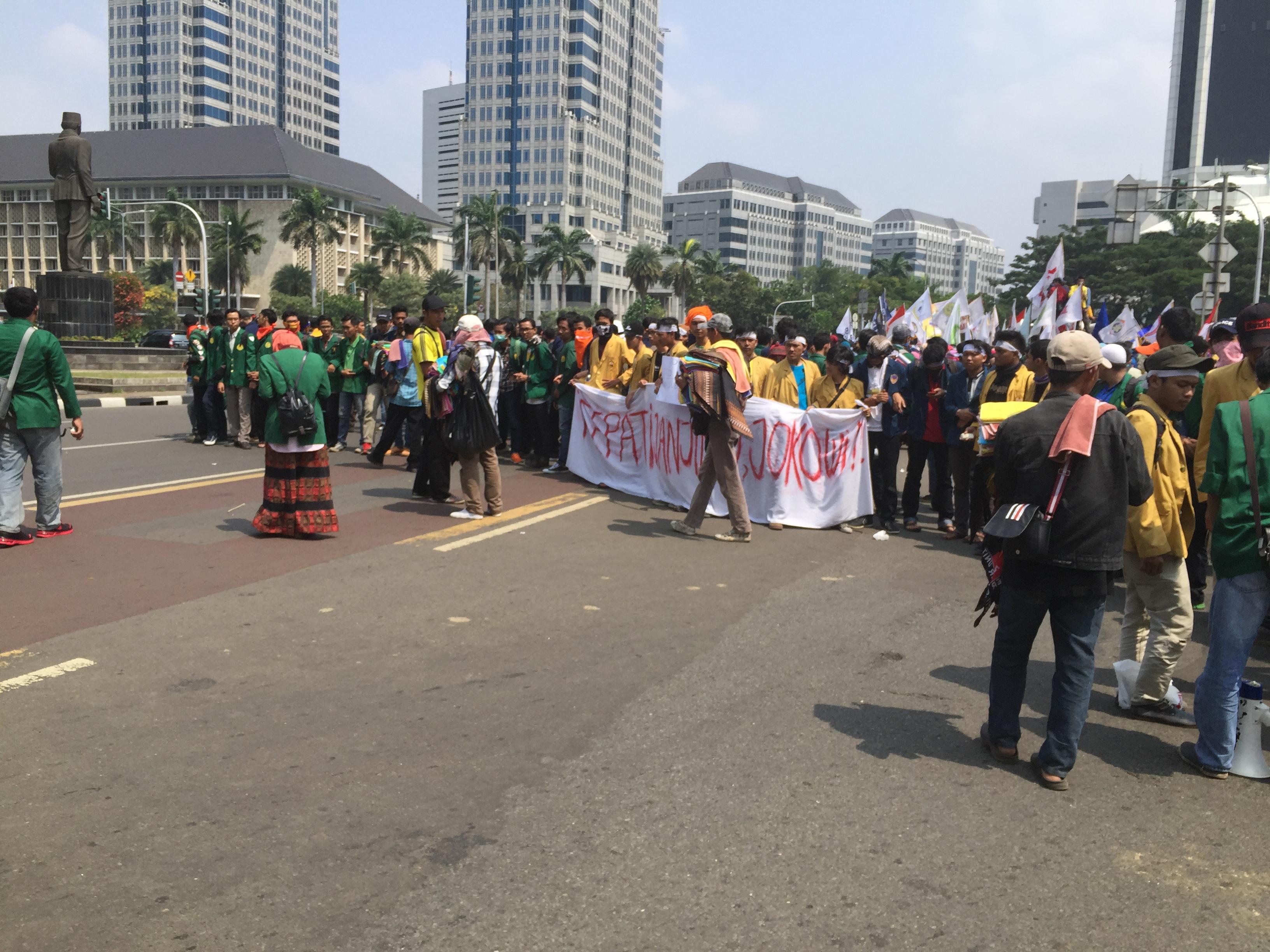مظاهرات في إندونيسيا تطالب بتنحي الرئيس