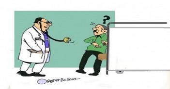 غلاء أشعار الكشف الطبي للأطباء (كاريكاتير أسامة سبيع)