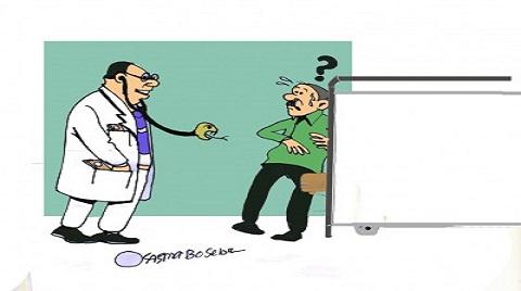 غلاء أسعار الكشف الطبي للأطباء (كاريكاتير)