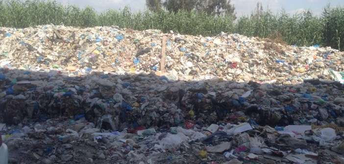 شارع هيلتون جرين بلازا في سموحة يتحول إلى مقلب «زبالة»(صورة)