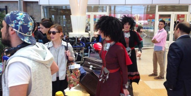 📷 بالصور.. وصول فرقة الرقص الشعبي الجورجية مطار شرم الشيخ ✈