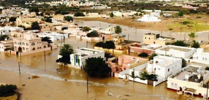 السيول تعم عمان بسبب أمطار العاصفة المدارية أشوبا