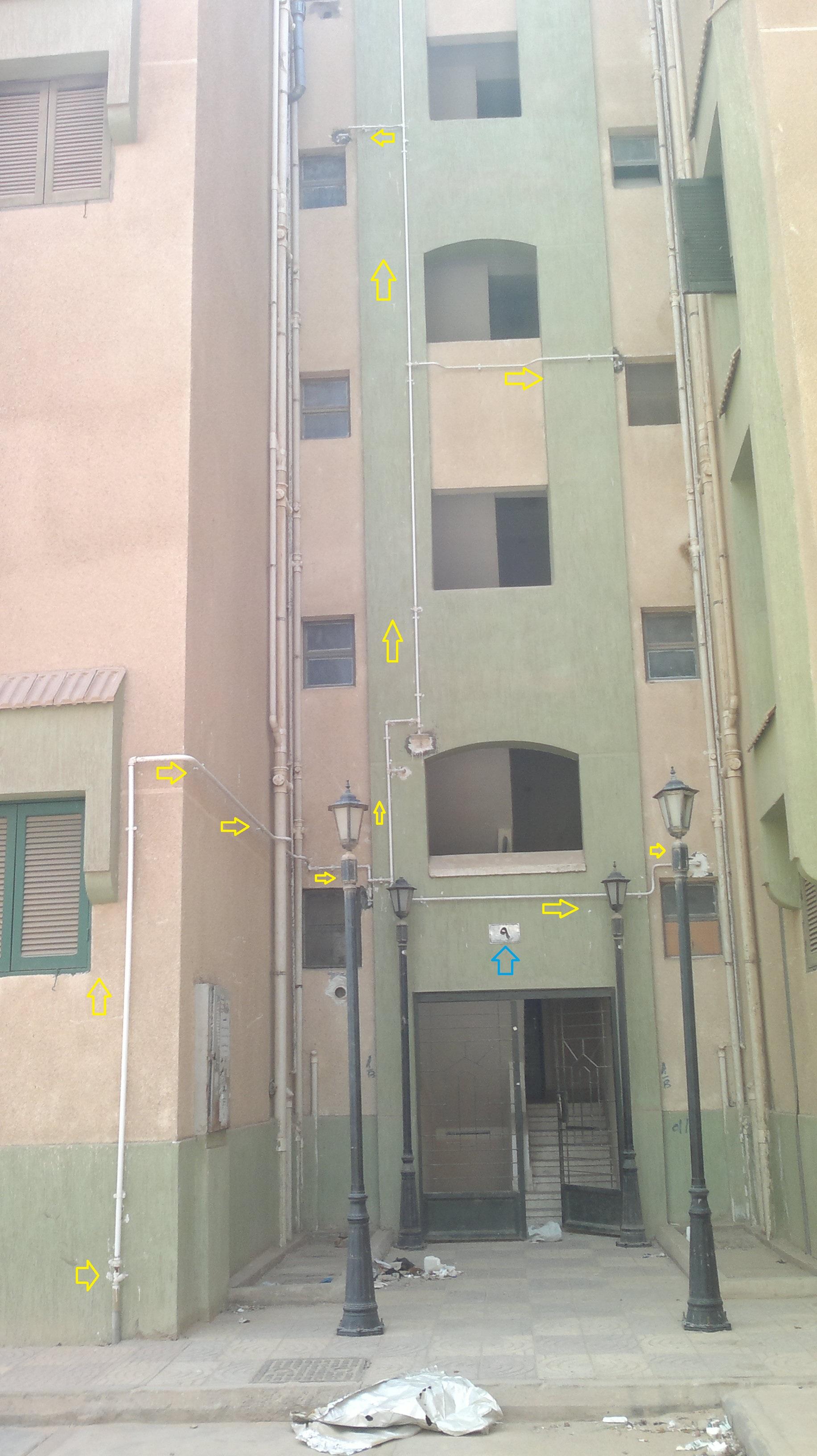 عمارة بنك الإسكان والتعمير تم توصيل الغاز إليها دون بقية العمارة الملاصقة لها
