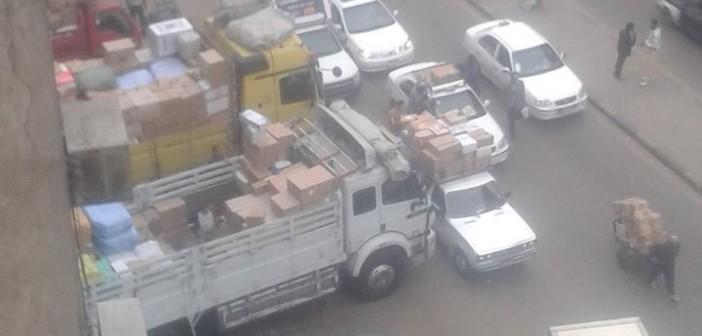 بالصور.. مواطن: تجار النقل الثقيل بشارع بورسعيد يؤذوننا 📷