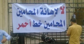 جانب من إضراب المحامين في محكمة إيتاي البارود (تصوير عمرو طه)