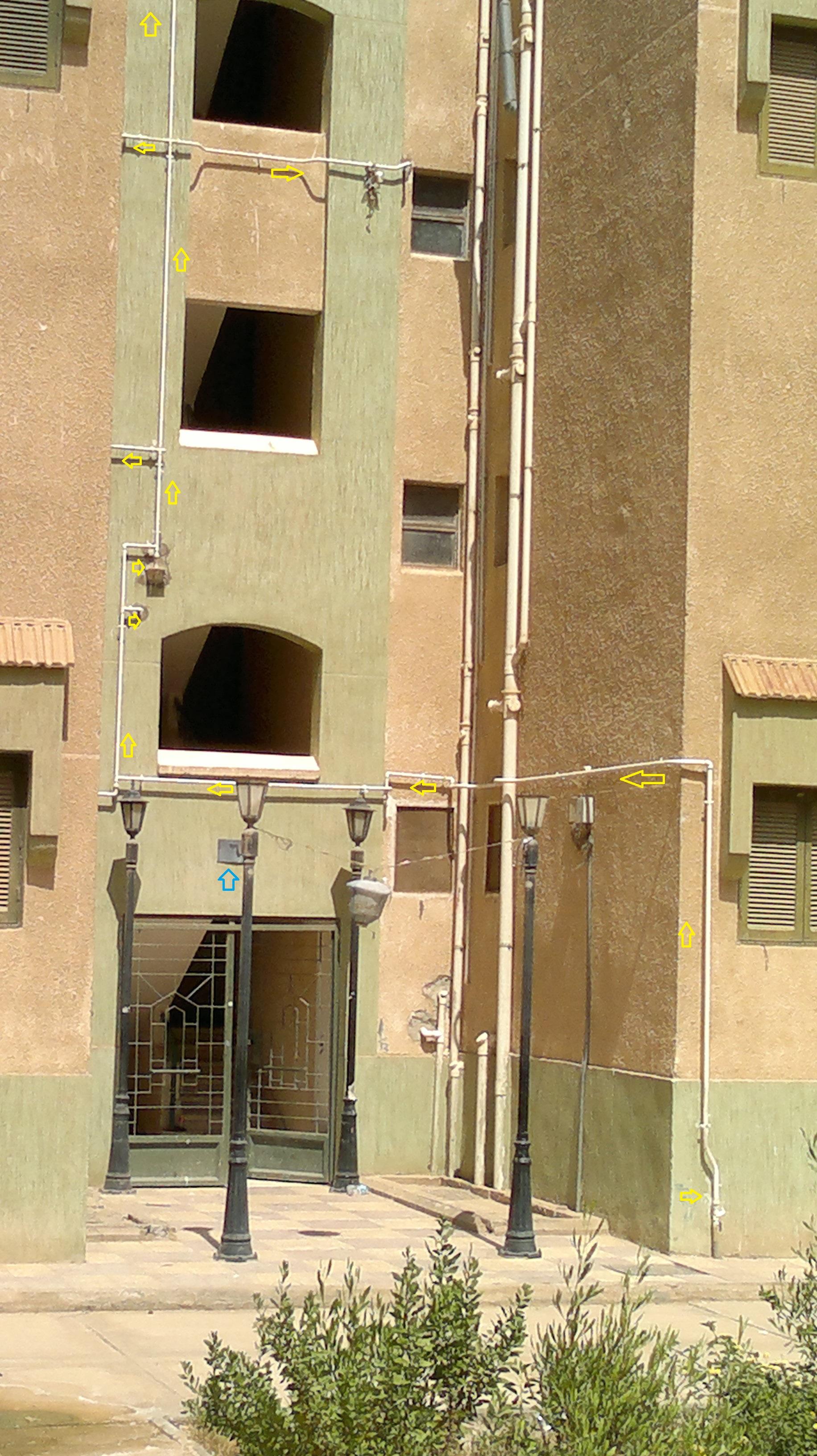 عمارات بنك الإسكان والتعمير موصل إليها الغاز الطبيعي