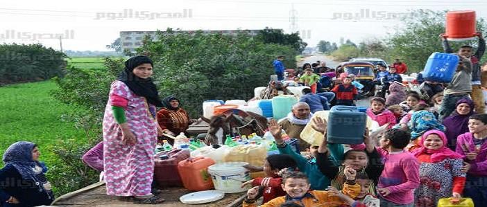 انقطاع دائم لمياه الشرب في قرية نشا بالدقهلية