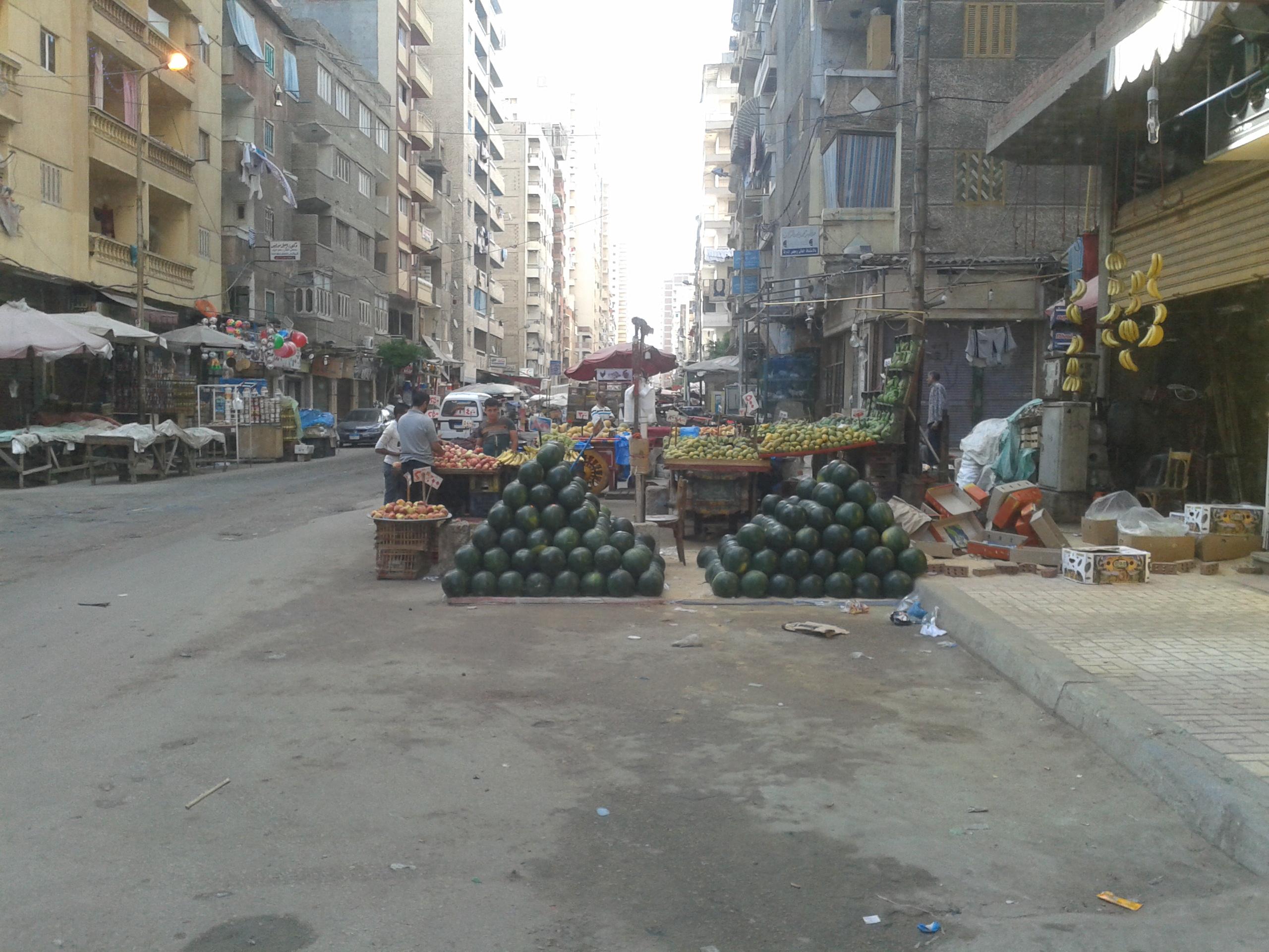 شارع القاهرة بسيدي بشر في الإسكندرية (صورة حسام مصطفى)