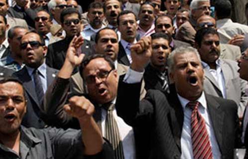 إضراب محامي الصف وأطفيح بالجيزة