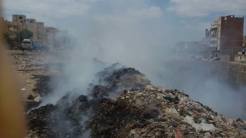 حرق القمامة في المطرية ـ الدقهلية