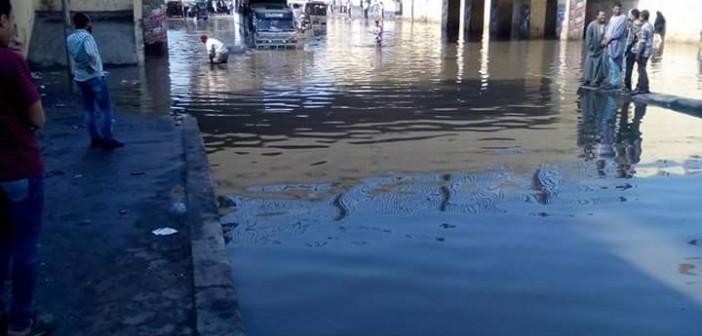 غرق نفق كوبرى إمبابة.. وبطء الحركة المرورية 📷