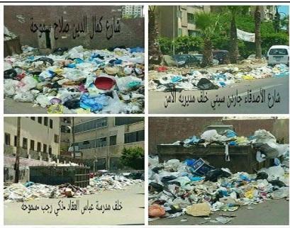 شوارع الإسكندرية تغرق في القمامة