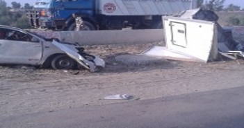 حادث تصادم مروع بطريق الإسماعيلية ـ الزقازيق