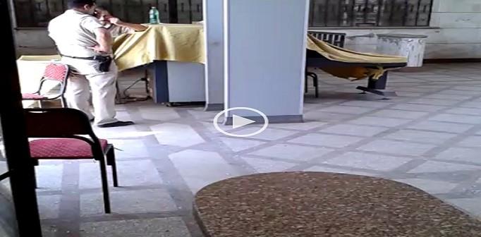 🔴 بالفيديو.. للوجاهة فقط.. أجهزة الفحص بمحطة قطارات مغاغة بالمنيا «في راحة» 📹