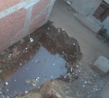 📷 الصرف الصحي يحول «صناديد» بالغربية إلى مستنقعات وبرك (صور)