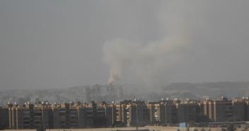 تلوث الهواء بسبب مصانع أسمنت طرة