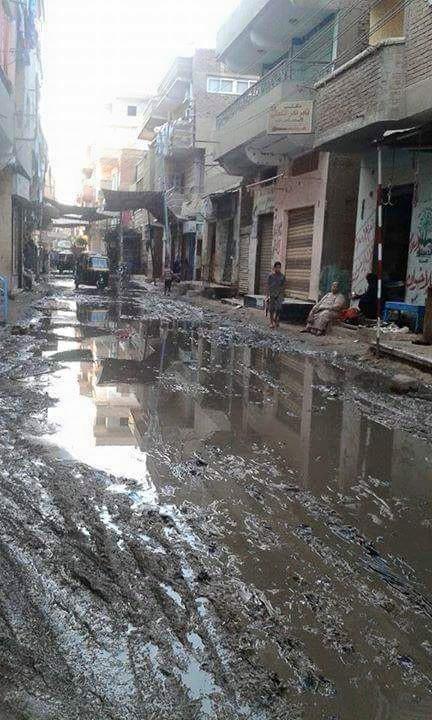 مياه الصرف تغرق قرية كرديدة بمنيا القمح في الشرقية