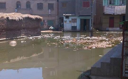 مياه الصرف تُغرق «سرنباي» بالبحيرة.. والباعة يحاصرون مستشفى القرية (صور)