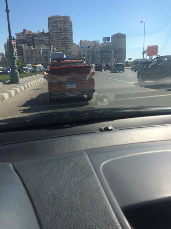 الإسكندرية.. اللحوم تنقل في شنطة السيارة
