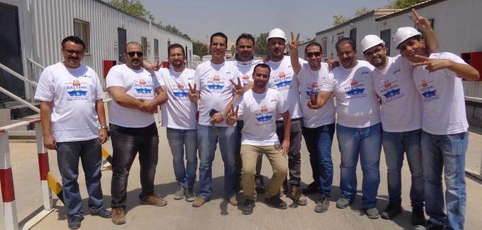 بالصور.. مهندسون مصريون بالسعودية يحتفلون بقرب افتتاح قناة السويس الجديدة على طريقتهم الخاصة 📷
