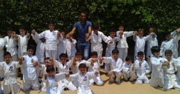 براعم الكاراتيه في مركز شباب كفر الأطرش بشربين