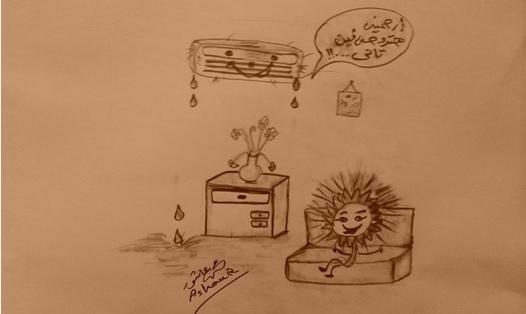 🎨 ارتفاع درجات الحرارة (كاريكاتير)