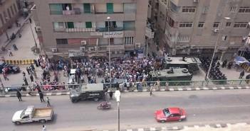 اشتباكات بين قوات تأمين مديرية أمن الشرقية وأمناء الشرطة2