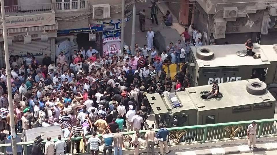 اشتباكات بين قوات تأمين مديرية أمن الشرقية وأمناء الشرطة5
