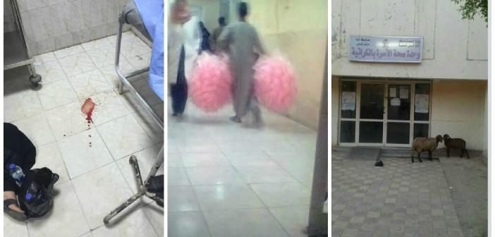 بالصور.. خرفان وغزل بنات بالوحدات الصحية بقوص.. ومواطن: طبيب رفض علاج طفل ينزف دمًا 📷