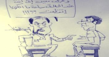 انقطاع الكهرباء ـ كاريكاتير أحمد سنباطي