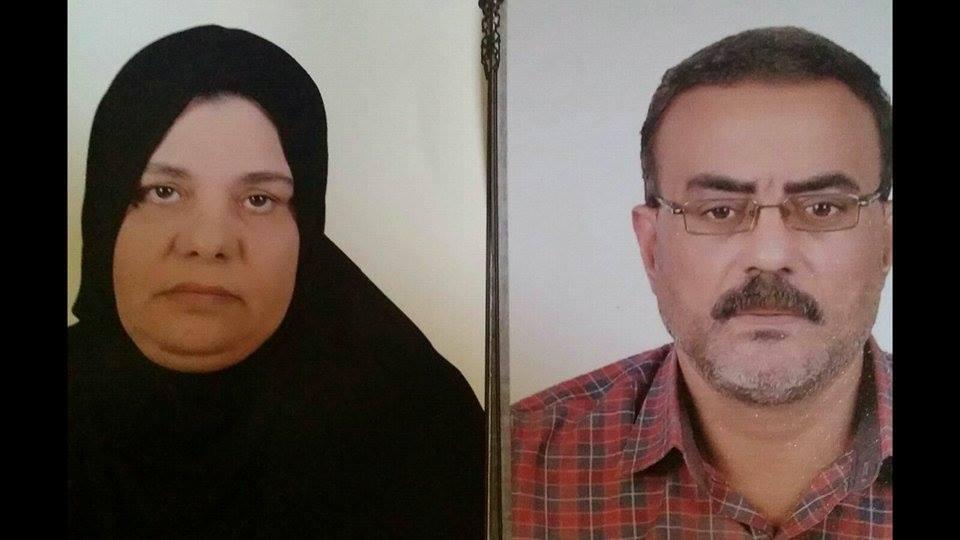 والدا الشهيد رامي السيد زيدان أحد شهداء هجوم كرم القواديس