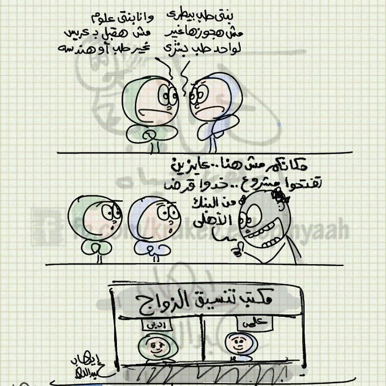 مكتب تنسيق الزواج .. الجامعات سابقا (كاريكاتير إيهاب عبدالله)