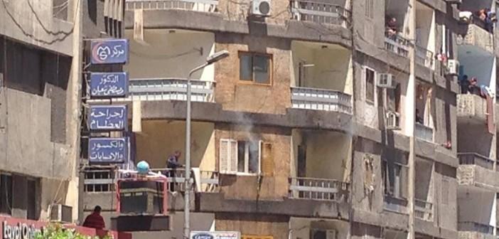 بالصور.. إصابة شخص في حريق شقة بالإسكندرية 📷