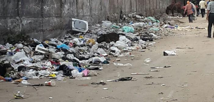 بالصورة.. القمامة تحاصر سور مترو الملك الصالح