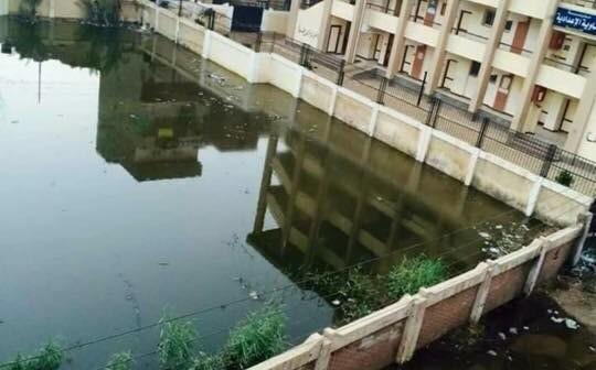 بالصور.. مياه الصرف تغمر قرية الناوية بالغربية.. وتهدد بيوت المواطنين