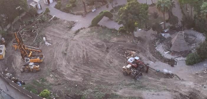 بالصور.. «مجزرة» لأشجار حديقة أغاخان العامة بشبرا.. وشهود: «عمرها 200 عام» 📷