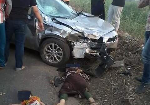 🔴 بالصور.. مصرع 7 بينهم 4 أطفال.. وإصابة والدتهم في حادث تصادم مروع بالسنبلاوين 📷