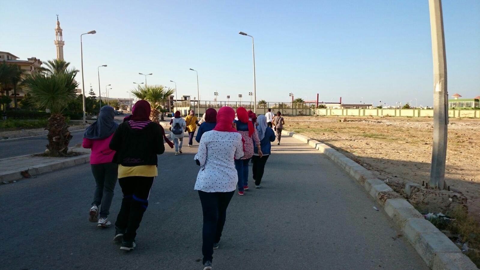 «ورد مصر» تشاركن في أول ماراثون للجري بدمياط