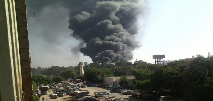 🔴 بالصور.. حريق هائل في شركة للبلاستيك بشبرا الخيمة 📷