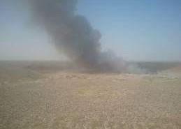 دخان القمامة في حوش عيسى