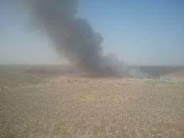 مواطنون يشكون حرق القمامة في إحدى قرى حوش عيسى