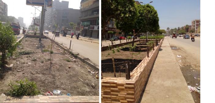 📷 قبل وبعد.. حدائق منطقة «آخر الشارع» بشبرا تحولت لمقلب قمامة بعد شهر من تجميلها
