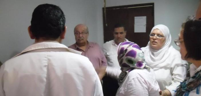بالصور.. عاملون بمستشفى فلسطين: احتجاجاتنا متواصلة لليوم الـ6 ضد «تعنت الإدارة»