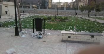 بالصور.. انتشار القمامة على كورنيش الوراق