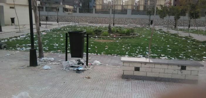 بالصور.. انتشار القمامة على كورنيش الوراق 📷