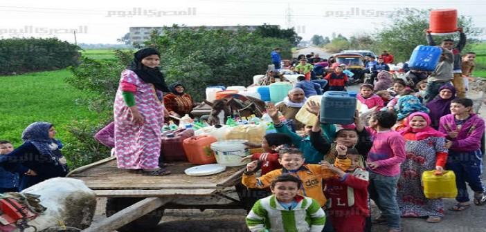 انقطاع المياه عن مسقط رأس أحمد عرابي بالشرقية يوميًا