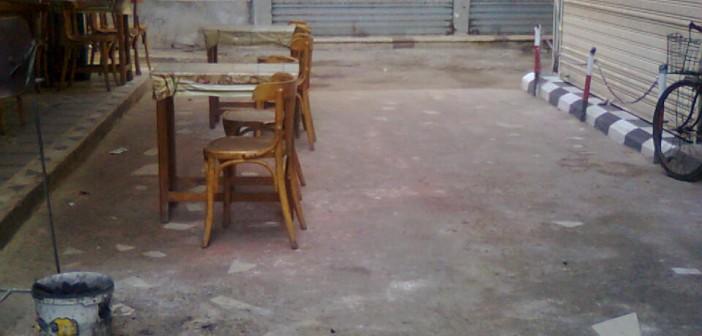 المقاهي تعرقل حركة المواطنين في شوارع غرب المنصورة 📷