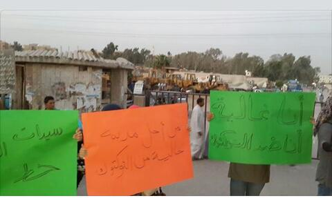 بالصور.. وقفة احتجاجية لسكان حدائق الأهرام ضد تحرش وبلطجة سائقي التوك توك